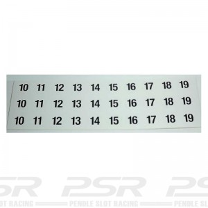 RUSC Vintage Die Cut Numbers Large Decals