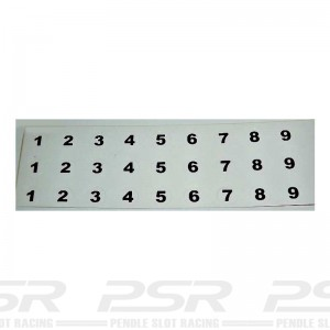 RUSC Vintage Die Cut Numbers Small Decals