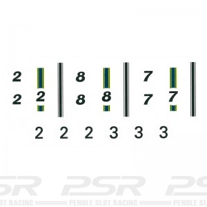 RUSC Lotus Indy Stripes & Number Roundels Decals