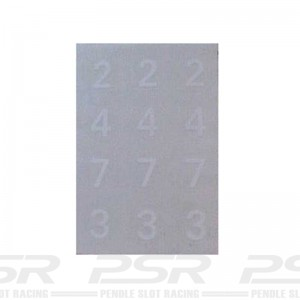 RUSC White Numbers Decals