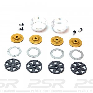BRM Wheel Inserts BBS 6 Spoke Gun Metal S-019G