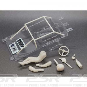 BRM Ford Mustang Lexan Cockpit Set