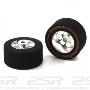 Scaleauto 1/24 Sponge Wheels Procomp-3 27.5x13mm