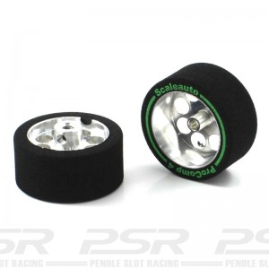 Scaleauto Aluminium Wheels & Sponge Tyres 27.5x13mm