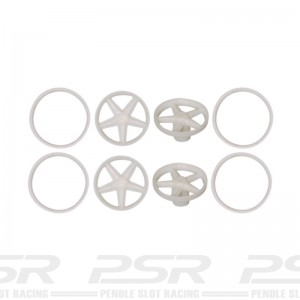Scaleauto Wheel Inserts Classic 5 Spokes 17-19mm