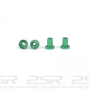 Scaleauto Suspension Mounts 4.5mm Aluminium Green