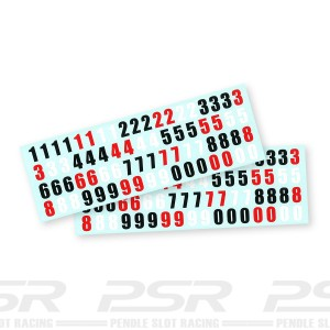 Scaleauto Race Number Decals