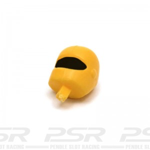 Scalextric Motorcycle Driver Head Yellow