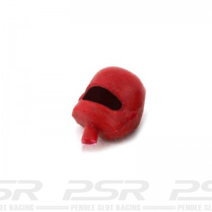 Scalextric Motorcycle Passenger Head Red