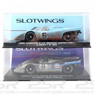 Slotwings Porsche 917K 1000Km Brands Hatch 1971 Gulf/Martini Set 1