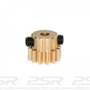 Sloting Plus Brass Removable Pinion 12t 6.5mm