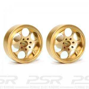 Sloting Plus Artic Gold Wheels 15x8mm