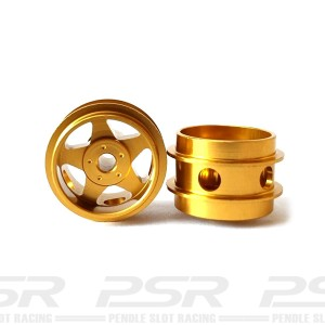 Staffs Aluminium Air Wheels 5-Spoke Gold 15.8x10mm