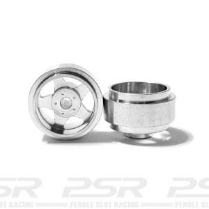 Staffs Aluminium Wheels 5-Spoke Silver 15.8x8.5mm
