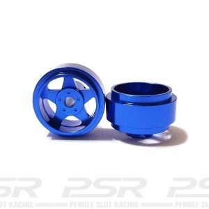 Staffs Aluminium Wheels 5-Spoke Blue 15.8x8.5mm