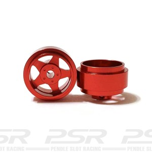 Staffs Aluminium Wheels 5-Spoke Red 15.8x8.5mm