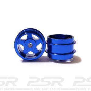Staffs Aluminium Wheels 5-Spoke Blue 15.8x10mm