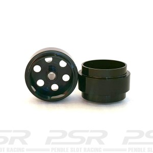 Staffs Aluminium Wheels Bullet-Hole Black 15.8x8.5mm