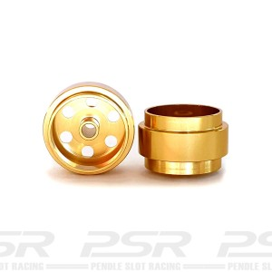 Staffs Aluminium Wheels Bullet-Hole Gold 15.8x8.5mm