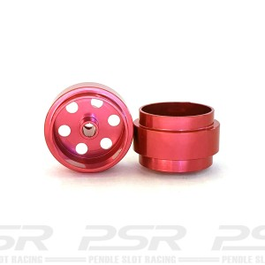 Staffs Aluminium Wheels Bullet-Hole Red 15.8x8.5mm