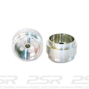 Staffs Aluminium Wheels Silver 15.8x10mm
