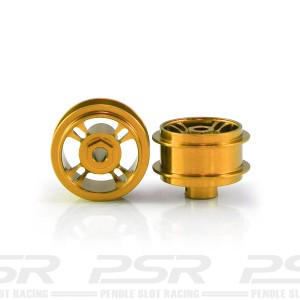 Staffs Aluminium Wheels 4-Spoke Gold 15.8x8.5mm