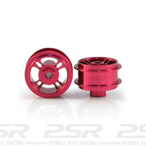 Staffs Aluminium Wheels 4-Spoke Red 15.8x8.5mm