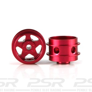Staffs Aluminium Air Wheels 5-Spoke Red 15.8x10mm