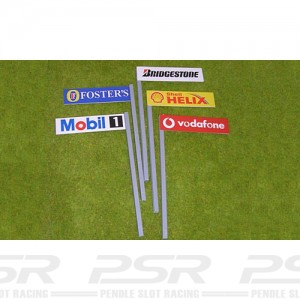 Slot Track Scenics Boards on Stanchions A x5 STS-AB1A
