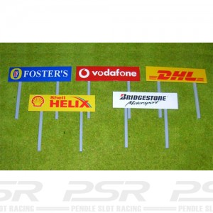 Slot Track Scenics Advertising Boards on Stanchions x4 STS-AB2