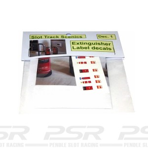 Slot Track Scenics Extinguisher Label Decals STS-DEC1