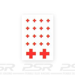 Slot Track Scenics Red Cross Decals