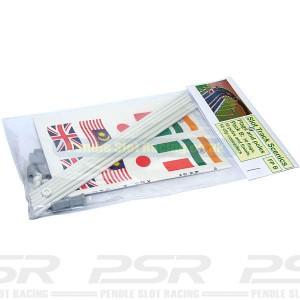 Slot Track Scenics 10 Flags & Poles B STS-FPB