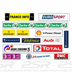 Slot Track Scenics Le Mans Logos Kit A