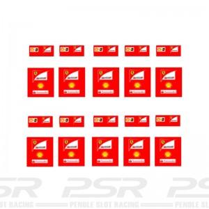 Slot Track Scenics Ferrari Pit Crew Decals