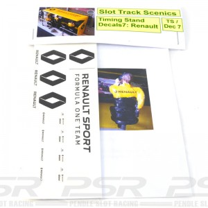 Slot Track Scenics Timing Stand Decals Yellow/Black