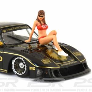 Racer Sideways Hawaiian Girl Figure Helena