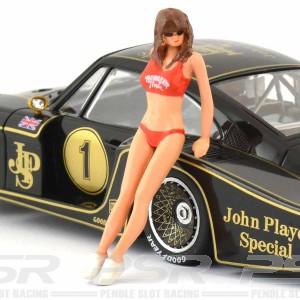 Racer Sideways Hawaiian Girl Figure Jane