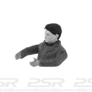Team Slot Half Male Driver Figure Unpainted