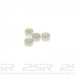 Scalextric Inline Pinion 9 Tooth x4