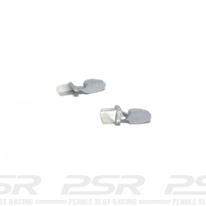 Scalextric Wing Mirrors Silver Mercedes GT1 CLK