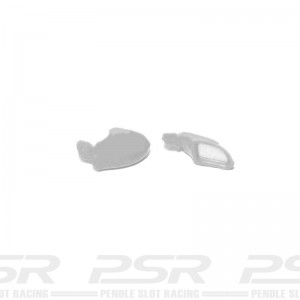 Scalextric Wing Mirrors Type 16 Silver Porsche 911 GT3