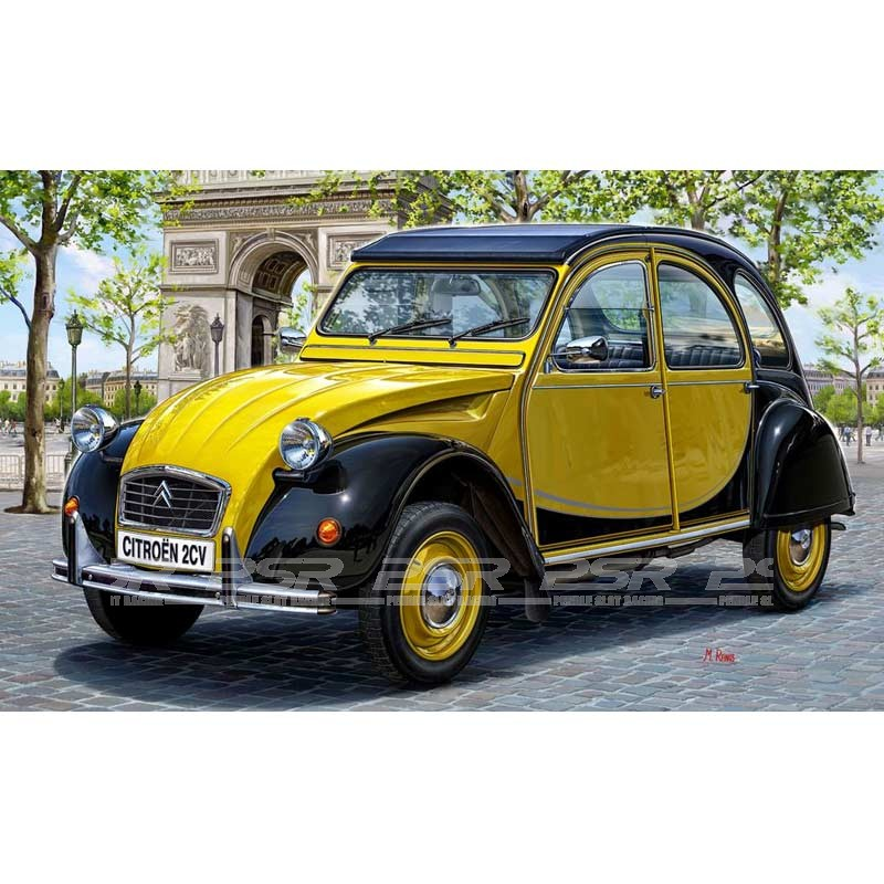 revell citroen 2cv charleston model kit 1 24 07095. Black Bedroom Furniture Sets. Home Design Ideas