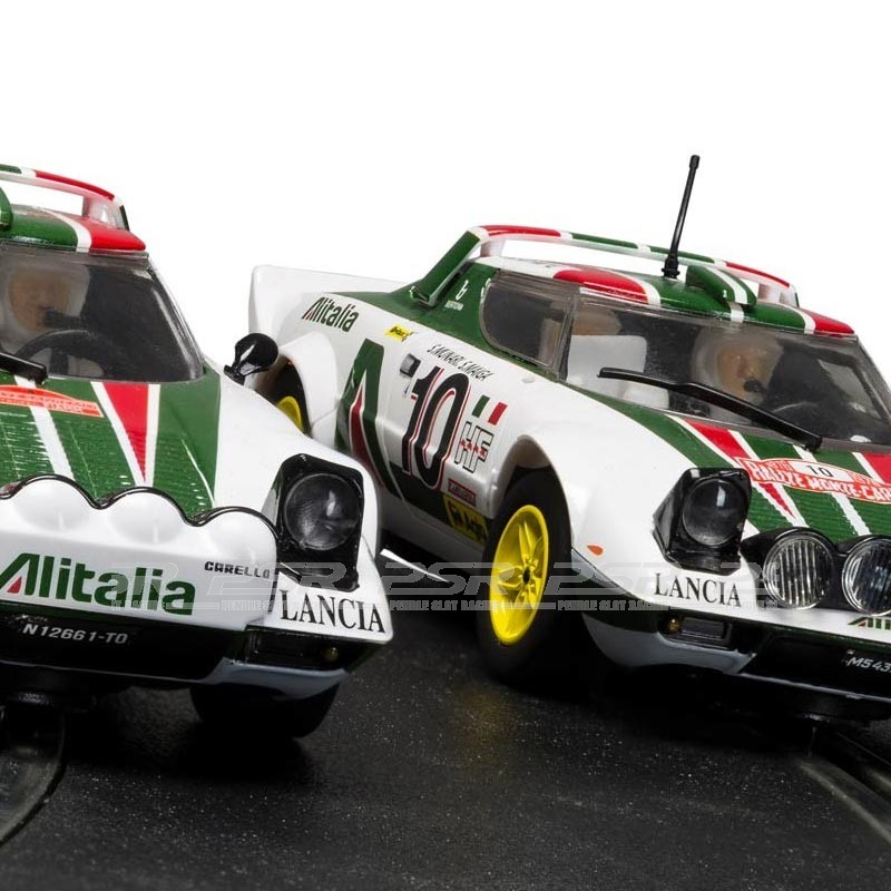 scalextric legends lancia stratos 1976 rally champions twinpack (c3894a)