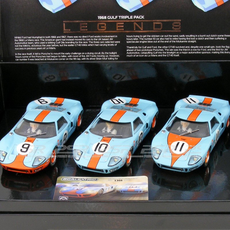Scalextric Ford GT40 1968 Gulf Triple Pack Limited Edition