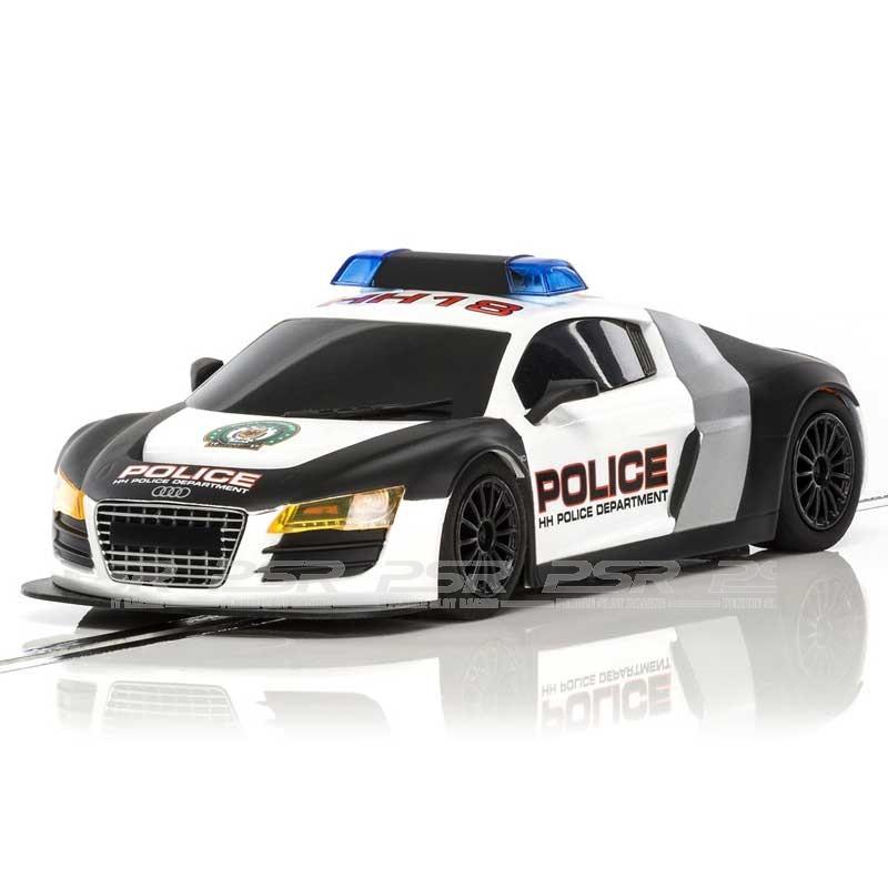 scalextric audi r8 police car c3932. Black Bedroom Furniture Sets. Home Design Ideas