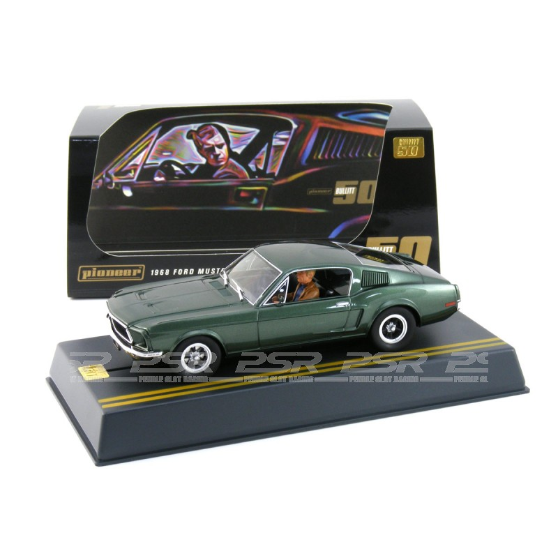 Pioneer slot car P085 ford mustang Bullitt 50th Anniversary Special Edition