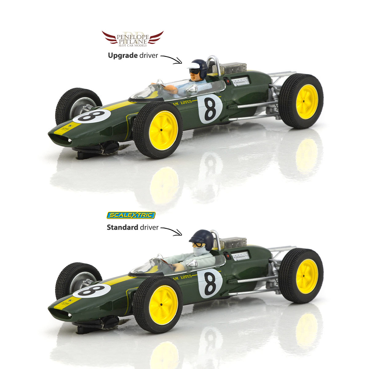 Penelope Pitlane Driver Upgrade for Scalextric Lotus 25