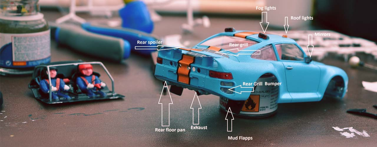 Scaleauto Porsche 959 Raid Kit Build
