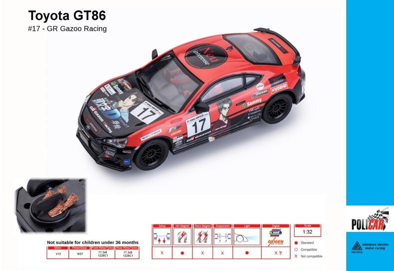 Policar Toyota GT86 No.17 GR Gazoo Racing